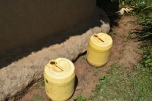 The Water Project: Makunga Community, Tabarachi Spring -  Water Storage Containers