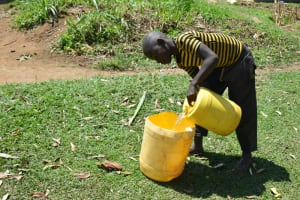 The Water Project: Makunga Community, Tabarachi Spring -  Adding To Water Storage