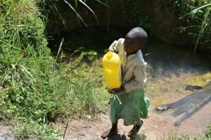 The Water Project: Makunga Community, Tabarachi Spring -  Leaving The Spring