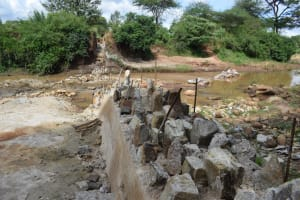 The Water Project: Kiteta Community -  Dam Delayed By Rains