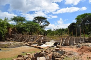 The Water Project: Kiteta Community -  Dam Nears Completion
