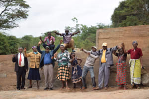 The Water Project: Kiteta Community -  Shg Members At The Completed Dam