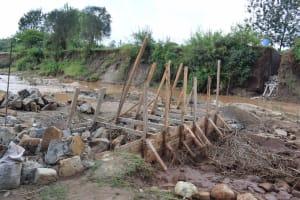 The Water Project: Kiteta Community -  Scaffolding The Dam