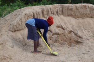 The Water Project: Kiteta Community A -  Sand For Mixing With The Cement