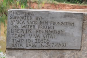 The Water Project: Kiteta Community A -  Shallow Well Plaque