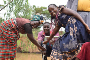 The Water Project: Kiteta Community A -  Water From The Well