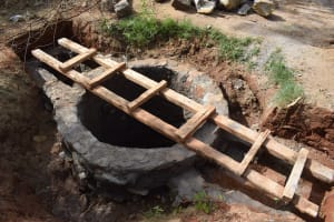 The Water Project: Kiteta Community A -  Well Walls Complete