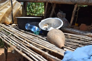The Water Project: Mathanguni Community -  Dishes Drying