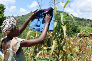 The Water Project: Mathanguni Community -  Hanging Clothes To Dry