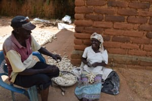 The Water Project: Mathanguni Community A -  Drying Maize