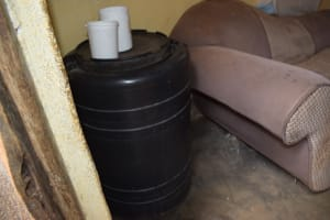 The Water Project: Mathanguni Community A -  Water Storage Container