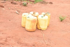 The Water Project: Thona Community -  Water Storage Containers