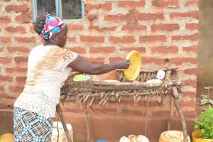 The Water Project: Thona Community A -  Dishrack