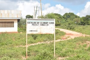 The Water Project: Kasyalani Mixed Day Secondary School -  School Sign