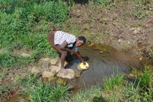 The Water Project: Bukhakunga Community, Wakukha Spring -  Fetching Water