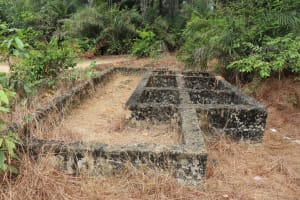 The Water Project: Lokomasama, Matong, DEC Primary School -  School Latrine Under Construction