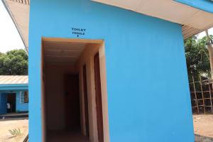 The Water Project: Kaffu Bullom, Kasongha OIC Vocational School -  School Latrine Famale Block