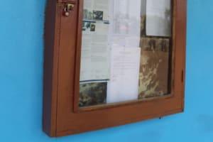The Water Project: Kaffu Bullom, Kasongha OIC Vocational School -  School Notice Board