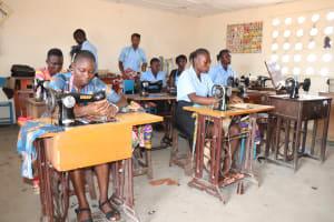 The Water Project: Kaffu Bullom, Kasongha OIC Vocational School -  Students Inside Classroom