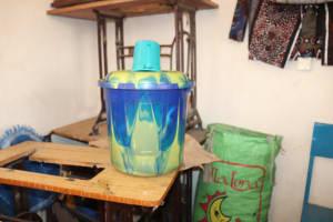 The Water Project: Kaffu Bullom, Kasongha OIC Vocational School -  Water Storage At School