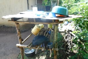 The Water Project: Ikoli Community, Odongo Spring -  Dishrack