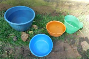 The Water Project: Ikoli Community, Odongo Spring -  Water Storage Containers