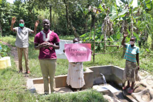 The Water Project: Litinye Community, Shivina Spring -  Thank You From Field Officer Erick And Community