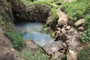 The Water Project: Mukhuyu Community, Gideon Kakai Chelagat Spring -  Open Spring