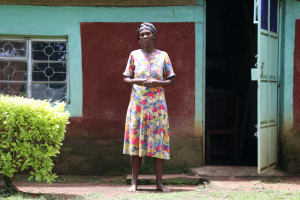 The Water Project: Sharambatsa Community, Mihako Spring -  Anne In Front Of Her House
