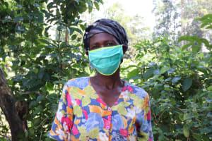 The Water Project: Sharambatsa Community, Mihako Spring -  Anne Wearing Her Mask