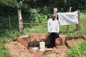 The Water Project: Irumbi Community, Okang'a Spring -  Pius At The Spring