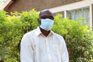 The Water Project: Irumbi Community, Okang'a Spring -  Pius Wearing His Mask