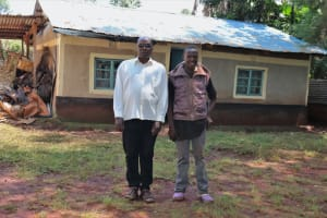 The Water Project: Irumbi Community, Okang'a Spring -  Pius With His Son Jacob