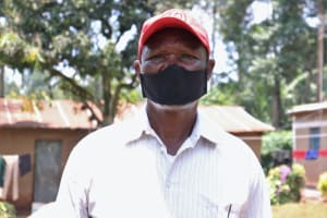 The Water Project: Irumbi Community, Shatsala Spring -  Isaac With His Mask On