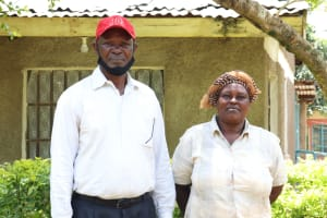 The Water Project: Irumbi Community, Shatsala Spring -  Isaac And His Wife