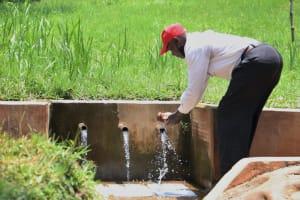 The Water Project: Irumbi Community, Shatsala Spring -  Handwashing At The Spring