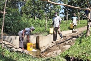 The Water Project: Bung'onye Community, Shilangu Spring -  At The Spring