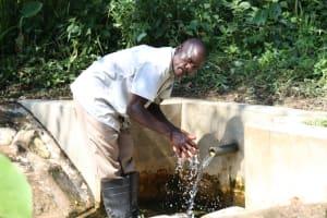 The Water Project: Bung'onye Community, Shilangu Spring -  Handwashing At The Spring