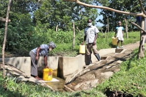 The Water Project: Bung'onye Community, Shilangu Spring -