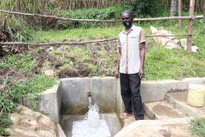 The Water Project: Bukhaywa Community, Shidero Spring -  Andrew At The Spring