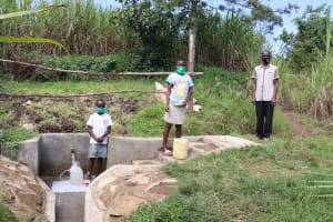 The Water Project: Bukhaywa Community, Shidero Spring -  At The Spring With Simon Patience And Andrew