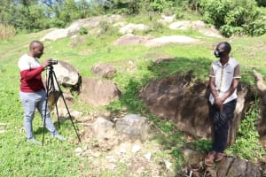 The Water Project: Bukhaywa Community, Shidero Spring -  Sir Allan Conducting The Interview