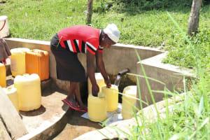 The Water Project: Buyangu Community, Osundwa Spring -  Fetching Water At Osundwa Spring