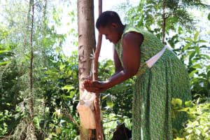 The Water Project: Shitoto Community, Abraham Spring -  Washing Her Hands