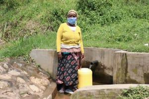 The Water Project: Handidi Community, Malezi Spring -  Fetching Water