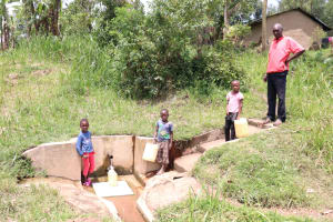The Water Project: Handidi Community, Kadasia Spring -  At The Spring With Some Kids