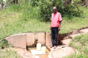 The Water Project: Handidi Community, Kadasia Spring -  Mr Kadasia At The Water Point