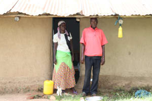 The Water Project: Handidi Community, Kadasia Spring -  Zachariah And His Wife