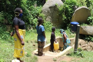 The Water Project: Shitoto Community, Laurence Spring -  Fetching Water At Laurence Spring