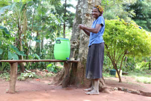 The Water Project: Luyeshe Community, Simwa Spring -  A Hearty Smile From Mama Simwa